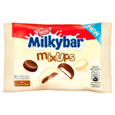 Milkybar Mix Ups White and Milk Chocolate Bag 32.5g