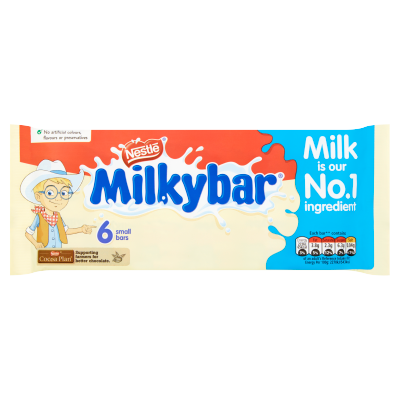 Nestlé<sup>®</sup> Milkybar<sup>®</sup> White Chocolate Kid Bar Multipack 6 x 12g
