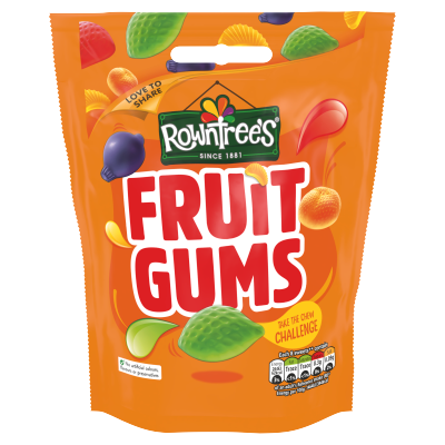 Rowntree's Fruit Gums Sweets Sharing Pouch 150g