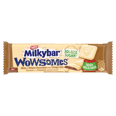 Milkybar<sup>®</sup> Wowsomes<sup>®</sup> Milk & White Chocolate Bar 18g