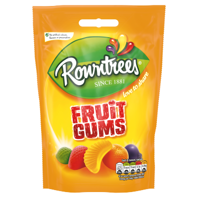 Nestlé<sup>®</sup> Rowntree's<sup>®</sup> Fruit Gums Sweets 150g Sharing Bag