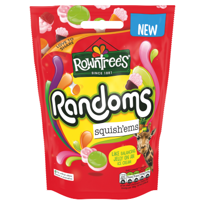 ROWNTREE'S<sup>®</sup> Randoms Squish'ems Sweets Sharing Bag 140g