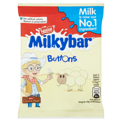 Milkybar<sup>®</sup> White Chocolate Buttons Bag 30g