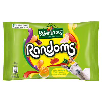 ROWNTREE'S<sup>®</sup> Randoms Sweets<sup>®</sup> Bag 50g