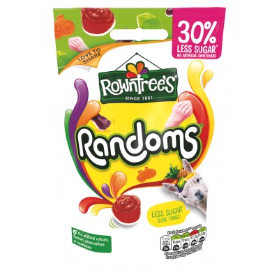 ROWNTREE'S<sup>®</sup> Randoms<sup>®</sup> 30% Reduced Sugar Sweets Sharing Pouch 110g