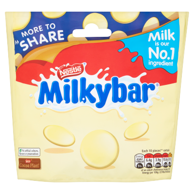 Milkybar<sup>®</sup> White Chocolate More To Share Bag 212g