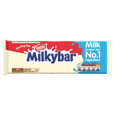 Nestlé<sup>®</sup> Milkybar<sup>®</sup> White Chocolate Sharing Block 100g