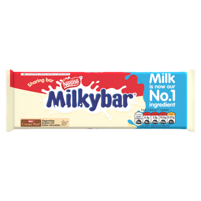 Milkybar White Chocolate Sharing Block 100g