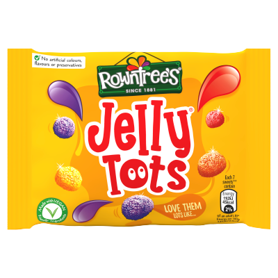 ROWNTREE'S Jelly Tots Sweets Bag 42g