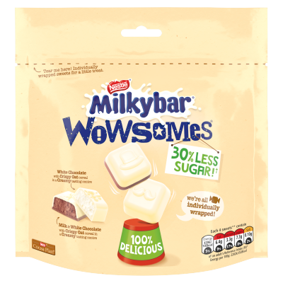 Nestlé<sup>®</sup> Milkybar<sup>®</sup> Wowsomes<sup>®</sup> Stock-Up Bag 105g